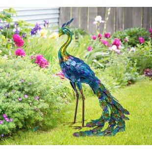 Burrillville Metal Peacock Statue