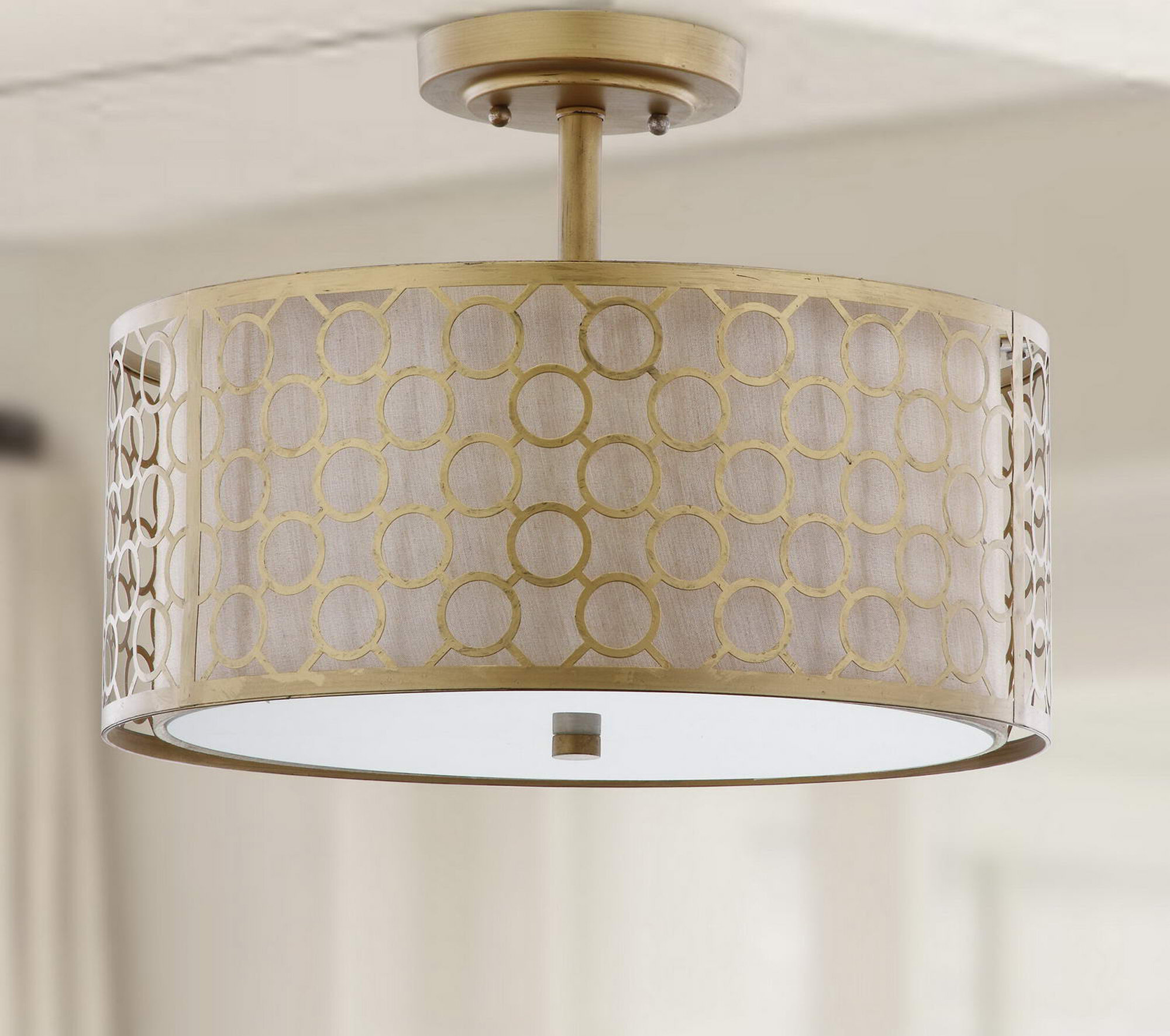 Mercer41 Torpoint 3-Light Semi Flush Mount & Reviews | Wayfair
