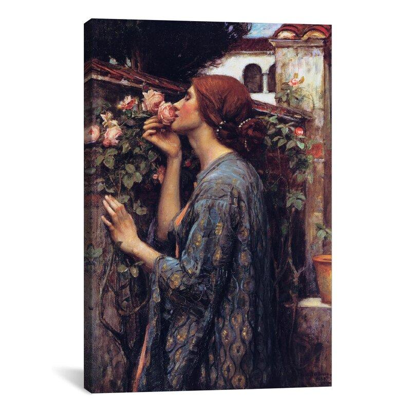 The Soul Of The Rose Female Art John William Waterhouse Decorative Ceramic Tile