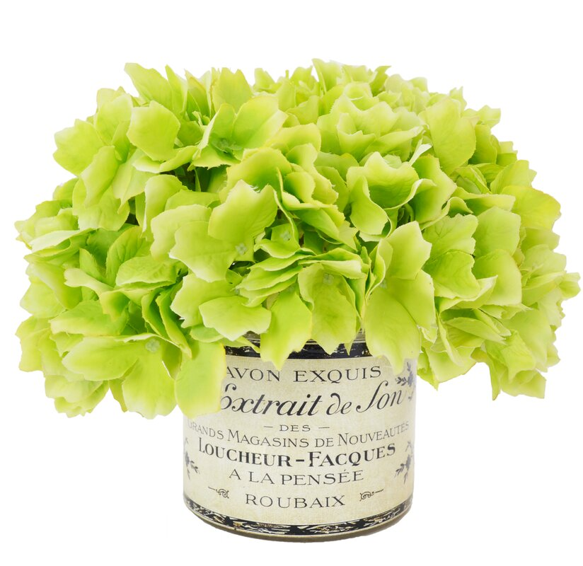 Faux Hydrangea in French Labeled Pot & Reviews   Joss & Main