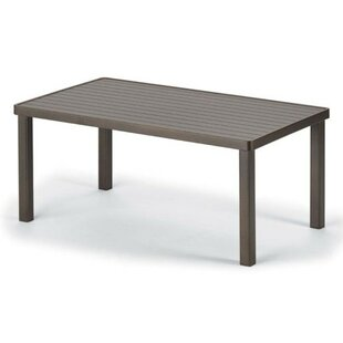 Aluminum Slat Tables Rectangular Aluminum Side Table