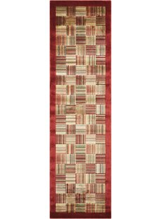 Hillhouse Beige/Red Area Rug by Winston Porter