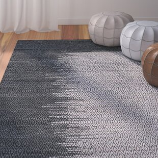Logan Geometric Hand-Woven Light Gray Area Rug by Bungalow Rose