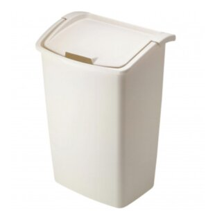 Plastic 11.25 Gallon Trash Can (Set of 6)