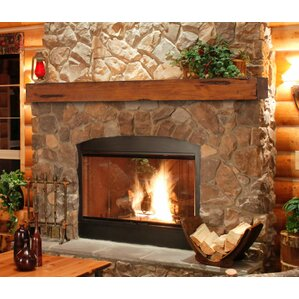 Walnut Fireplace Mantels You'll Love | Wayfair
