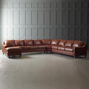 Shop Jesper Leather Sectional by Wayfair Custom Upholstery™
