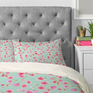 Cherry Blossom Mint Pillowcase (Set of 2)