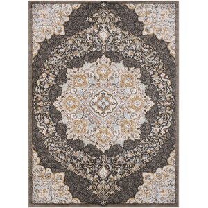 Lenora Classic Floral and Plants Camel Indoor/Outdoor Area Rug