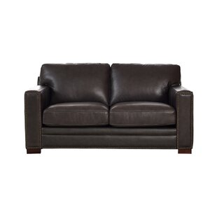 Neil Leather Loveseat