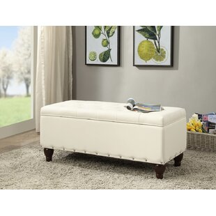Hemby Faux Leather Storage Bench by Alcott Hill