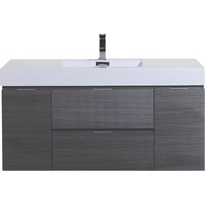 Modern Bathroom Vanity Sink modern & contemporary bathroom vanities you'll love | wayfair