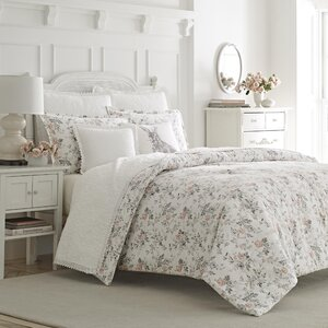 Rosalie 3 Piece 100% Cotton Reversible Comforter Set by Laura Ashley Home