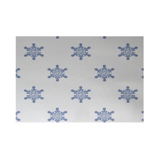 Flurries Decorative Holiday Print White Indoor/Outdoor Area Rug By The Holiday Aisle