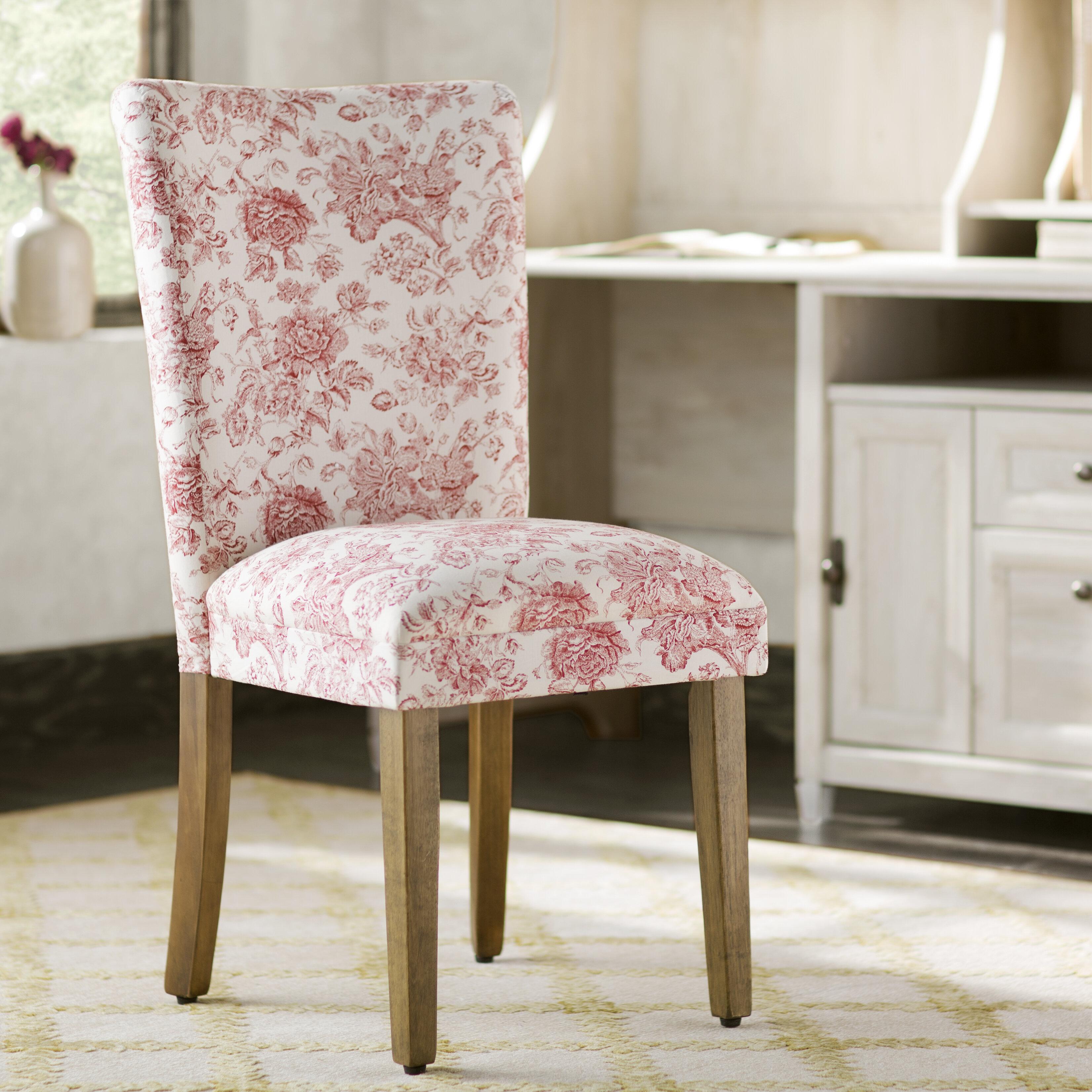 Winston Porter Adelayne Upholstered Parsons Chair In Pink Reviews Wayfair
