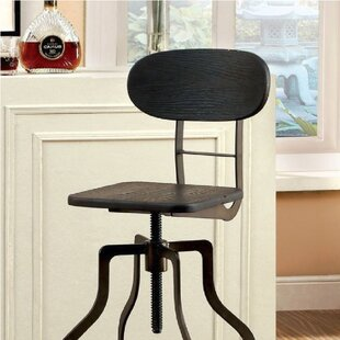 Javion Adjustable Height Swivel Bar Stool by 17 Stories