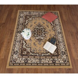 Dunlin Oriental Beige/Black Area Rug By Astoria Grand