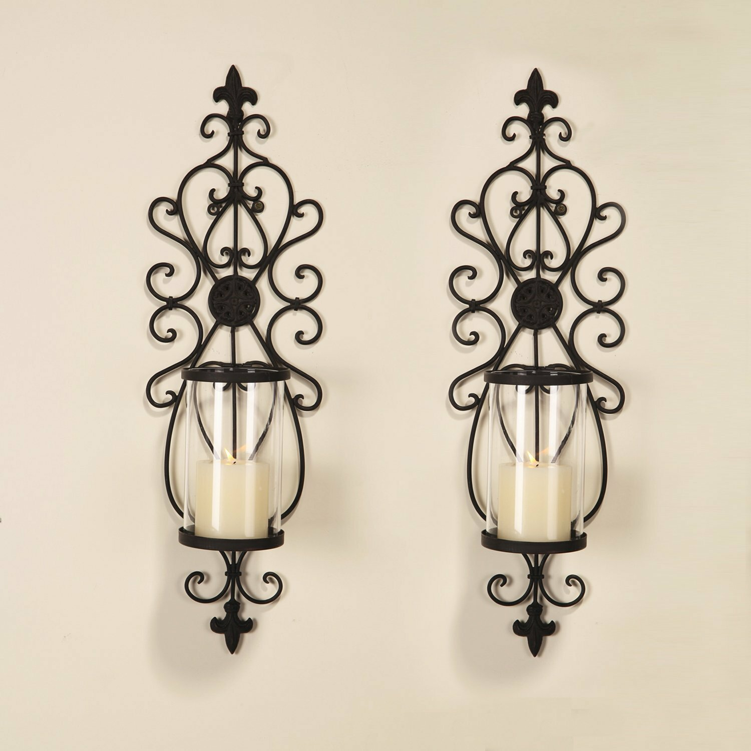 Darby Home Co Iron Wall Sconce Candle Holder U0026 Reviews | Wayfair