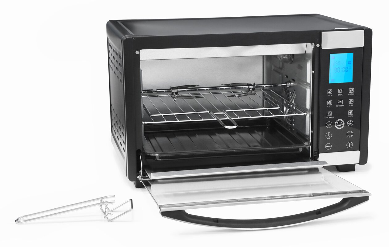 Elite by Maxi Matic 6 Slice Platinum Convection Toaster Oven