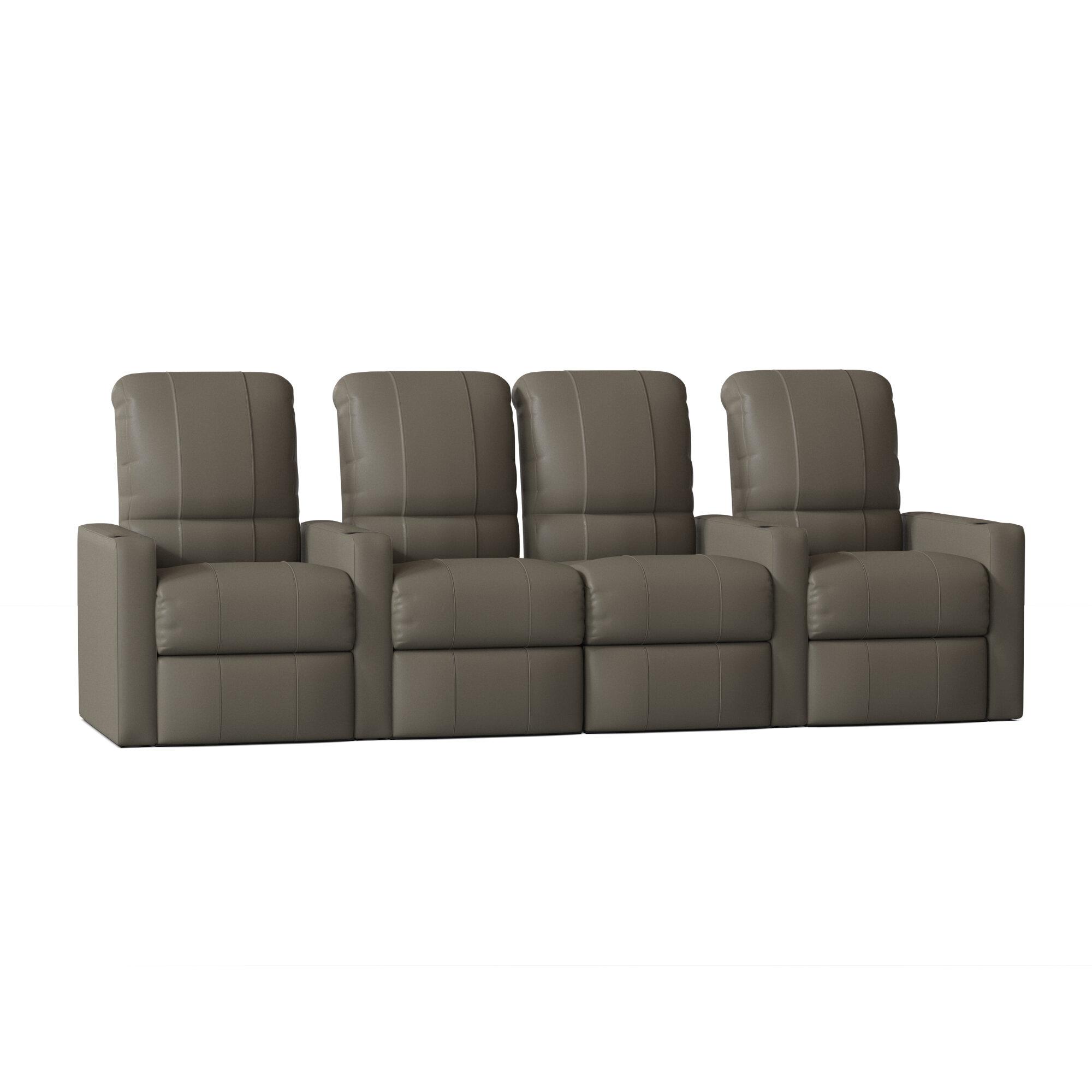 Latitude Run Home Theater Configurable Seating Row Of 4 Wayfair