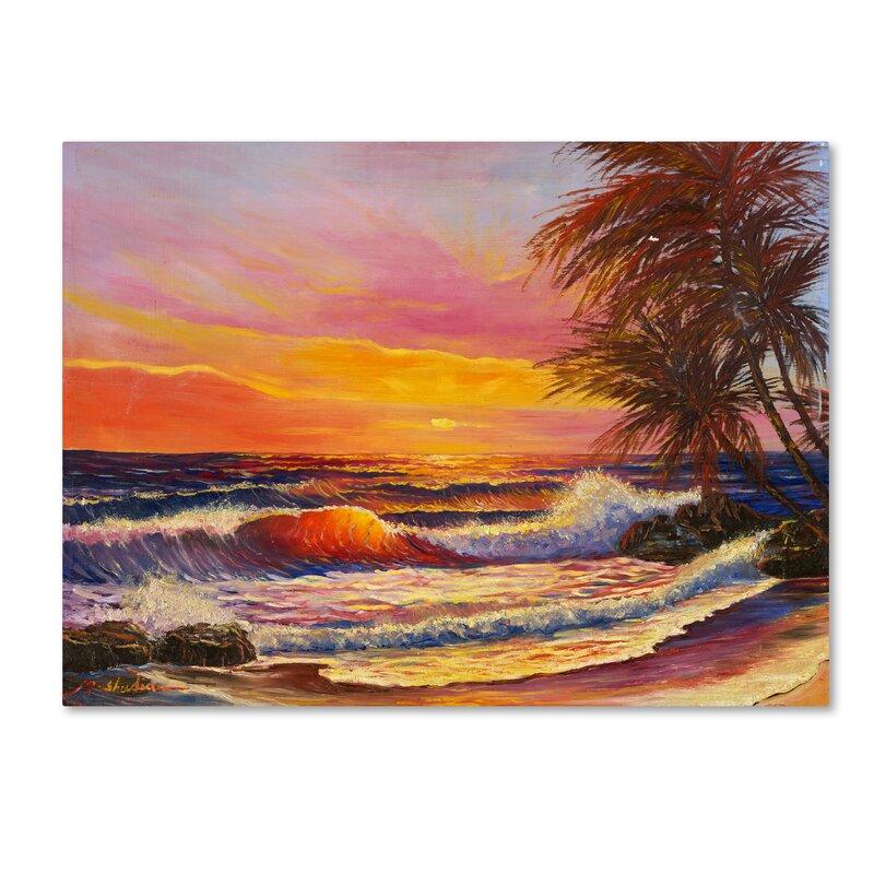 Trademark Art Hawaiian Glow Painting Print On Wrapped Canvas Wayfair