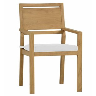 Avondale Teak Patio Dining Chair with Cushion