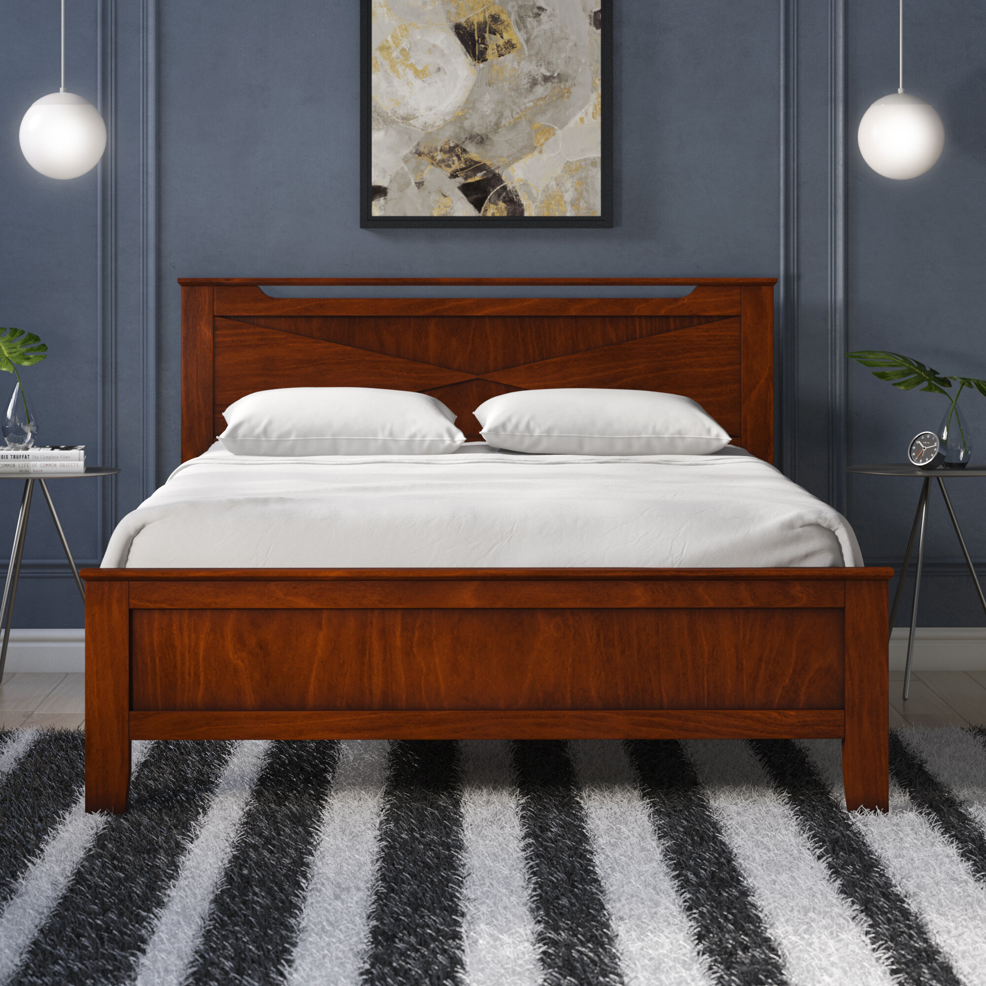 Winston Porter Cevallos Solid Wood Platform Bed Reviews Wayfair