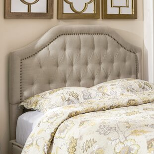 Reviews Djibril Scalloped Upholstered Panel Headboard by Lark Manor