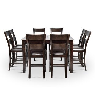 Wynwood Counter Height Dining Set with 8 Side Chairs Alcott Hill