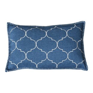 Eltingville Whipstitch Embroidered Lumbar Pillow