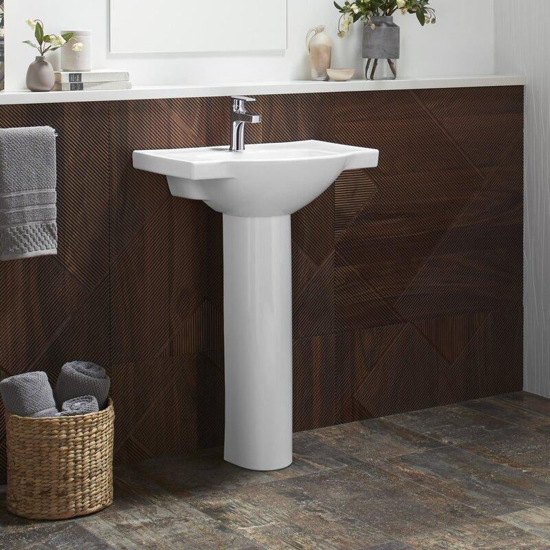 K 5265 1 0 7 95 Kohler Veer Veer Ceramic 21 Pedestal Bathroom Sink