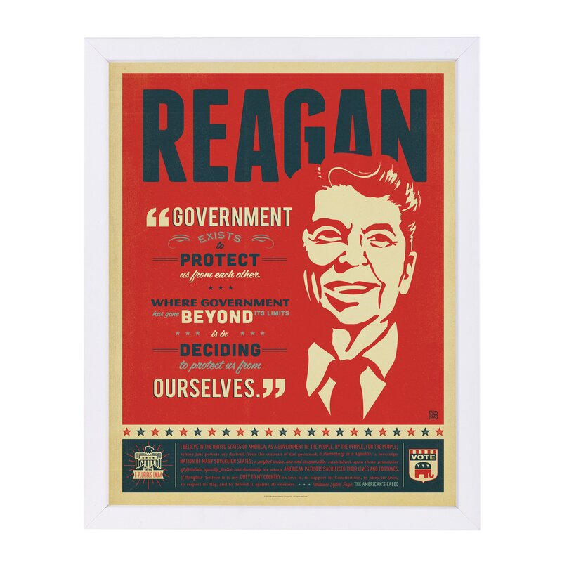 East Urban Home Presidents Framed Vintage Advertisement Wayfair