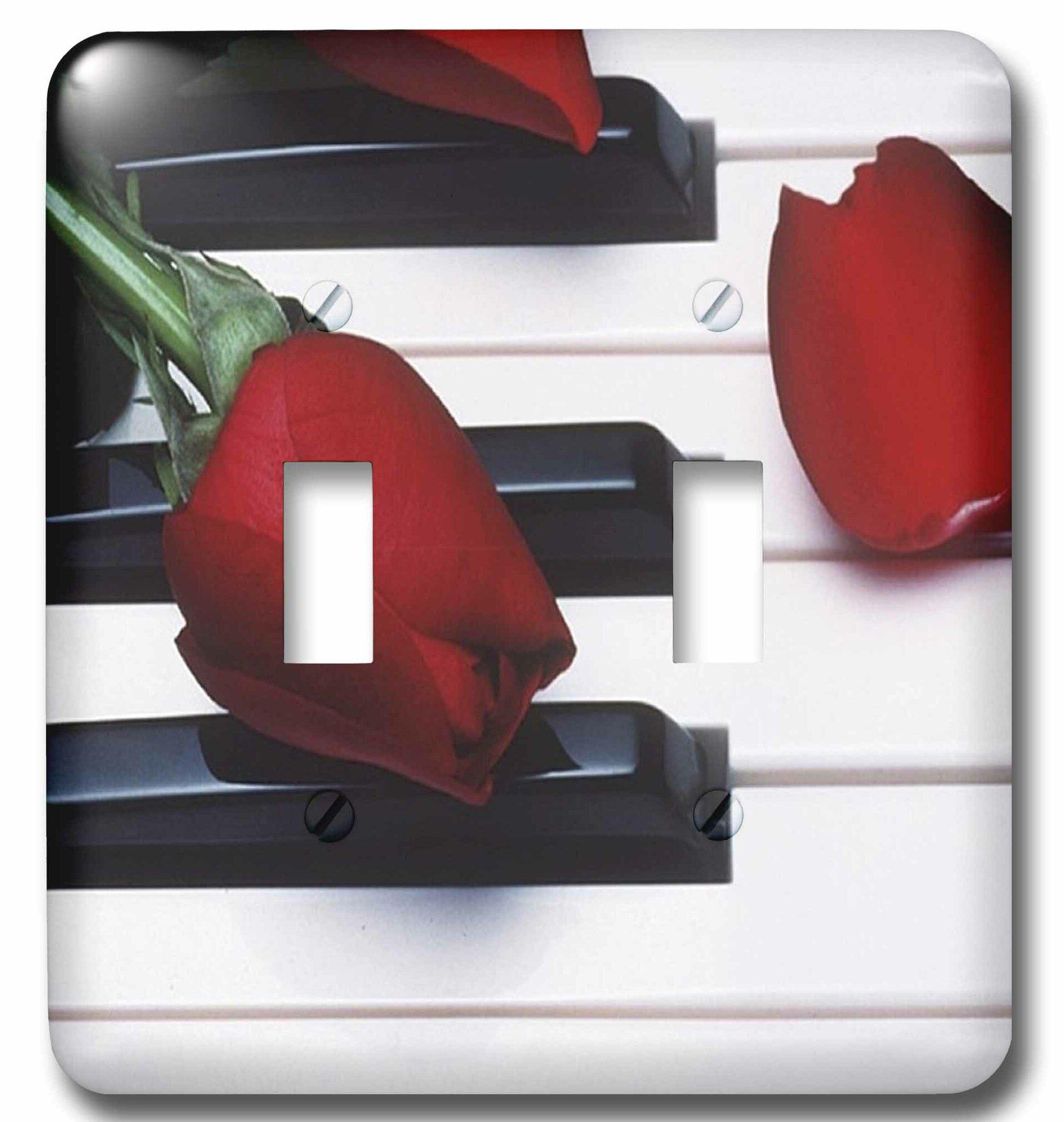 3drose Tulips On Piano Keys 2 Gang Toggle Light Switch Wall Plate Wayfair