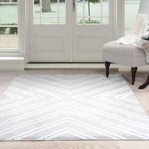 Kaleidoscope Gray/White Area Rug