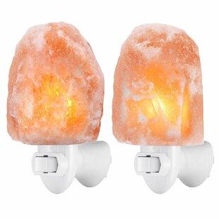 Shop For Natural Himalayan Rock Salt Lamp Night Light (Set of 2) By Zensational