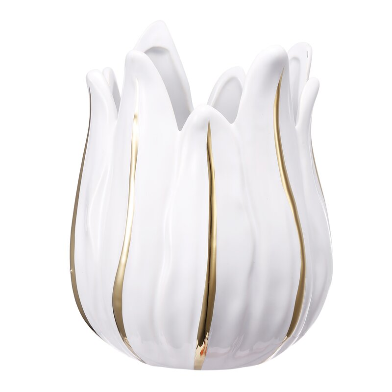 Bungalow Rose Lotus Small Ceramic Votive Holder Wayfair