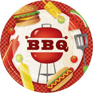 BBQ Time Paper Dessert Plate (Set of 24)