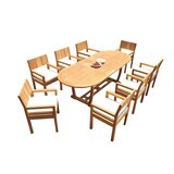 Juin 9 Piece Teak Dining Set