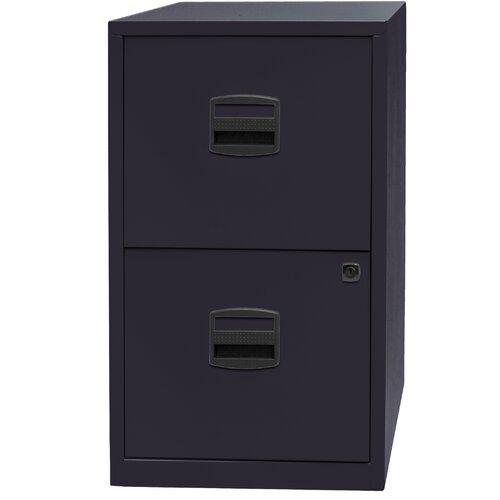 Aktenschrank PFA mit 2 Schubladen Bisley Farbe: Schwarz | Büro | Bisley