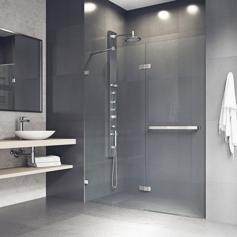 Nyos 60 X 72 Hinged Frameless Shower Door
