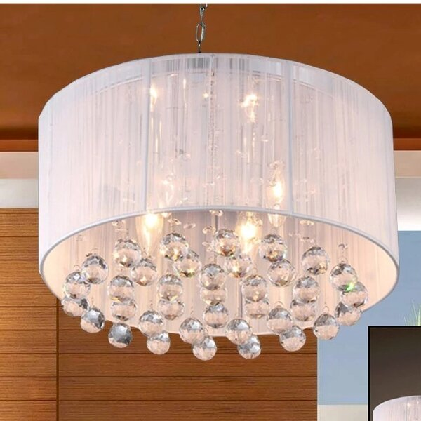 Warehouse Of Tiffany Mineya 5 Light Crystal Chandelier & Reviews by Warehouse Of Tiffany