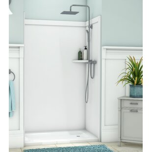Elegance Shower Surround 80H x 48W x 36D 3 Panel Shower Wall By FlexStone