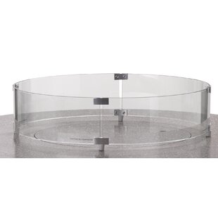 Round Glass Surround Fire Pit Table