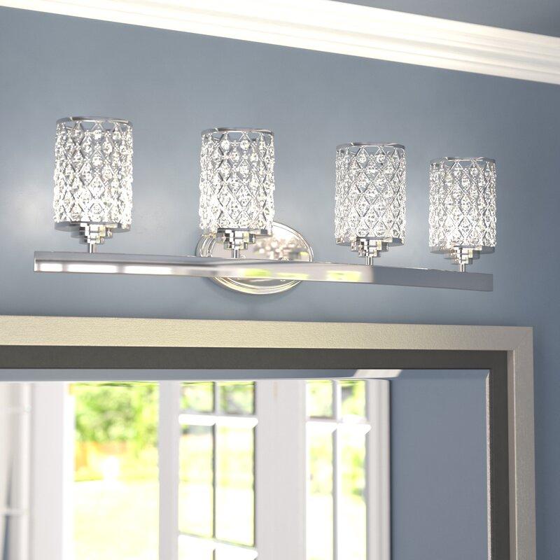 4 light vanity light bathroom senters 4light vanity light willa arlo interiors reviews wayfair