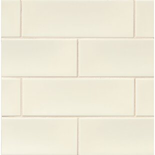 Leila 4 X 12 Ceramic Subway Tile In Cream