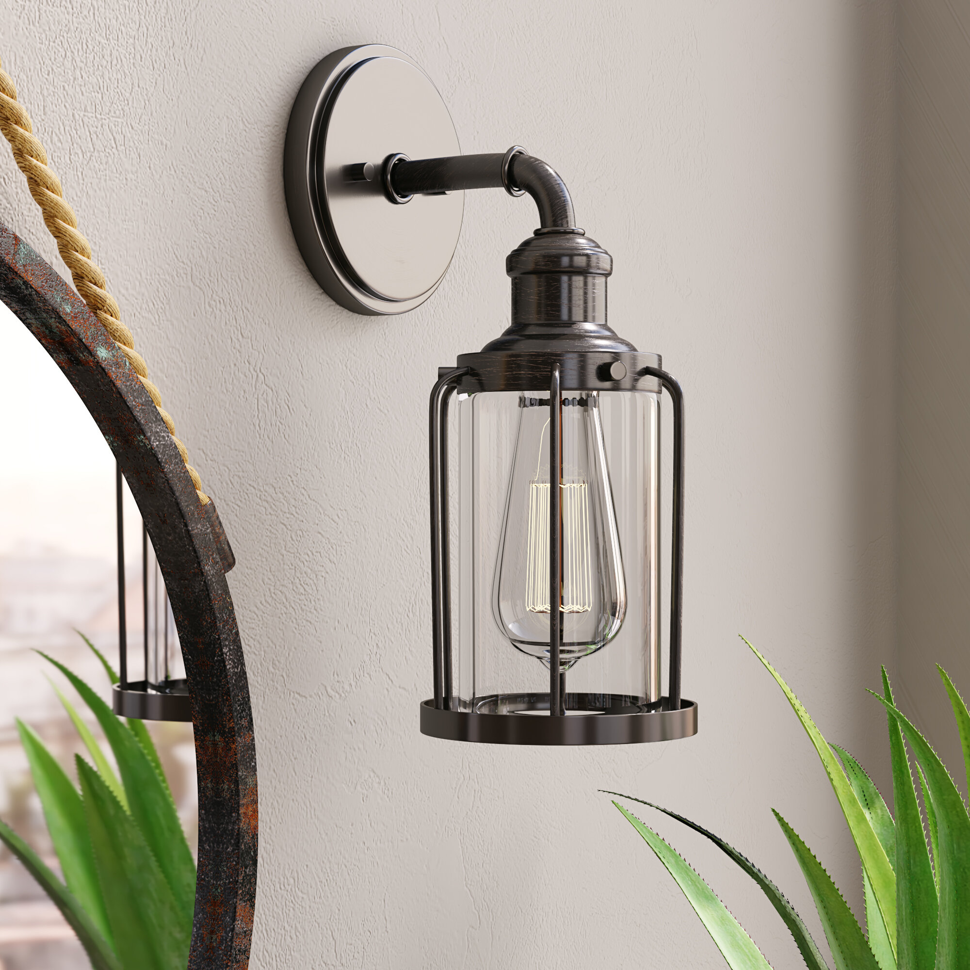 Armed Copper Wall Sconces You Ll Love In 2021 Wayfair