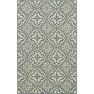 St James Hand-Hooked Blue/Beige Indoor/Outdoor Area Rug