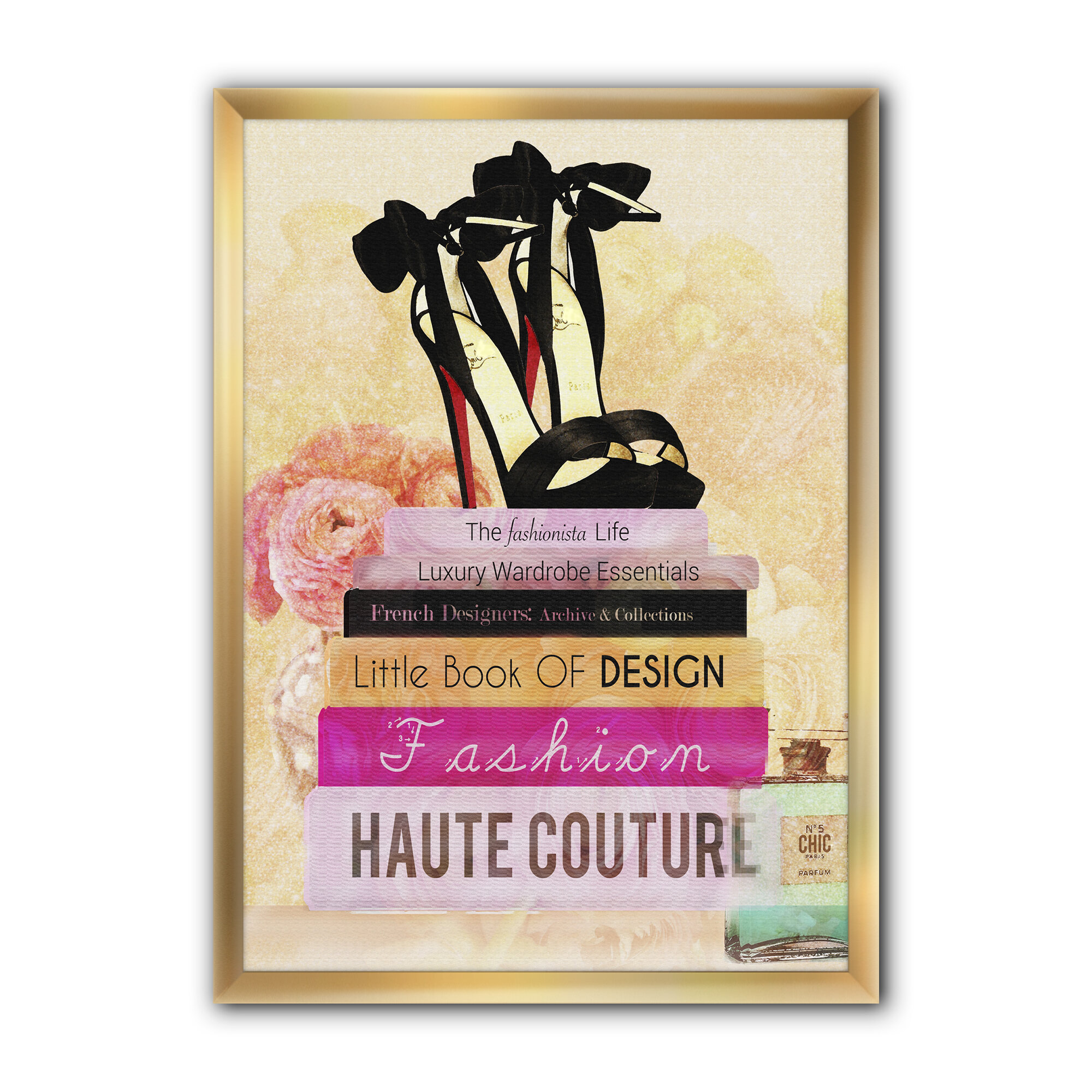 East Urban Home Fashionista Reads 2 Picture Frame Print On Canvas Wayfair