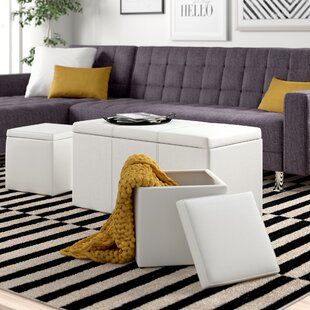 Elverton 3 Piece Storage Ottoman Set by Zipcode Design