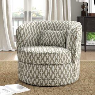 Dmitri Swivel Barrel Chair by Alcott Hill