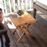 Addilyn Folding Solid Wood Side Table